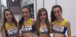 Under 15 Girls Relay Team - Anna Cameron, Emma Mailer, Katie Sharkey, Abby Davison