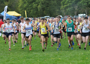 Aidan Thompson (11) at the head of 71 runners