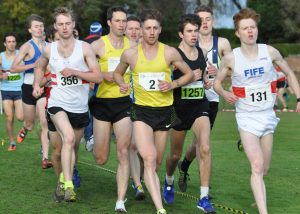 Central's Cameron Boyek and Alistair Hay showing strongly in the lead group of the men's race