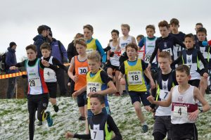 Start of the U13 Boys race