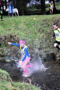 Under-11 race at the water