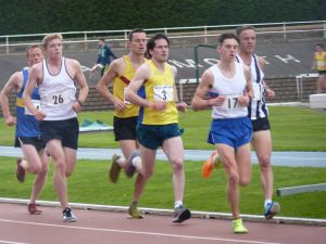 Michael Wright (3) in the 5,000 metres