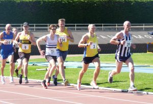 Lewis Millar in close order in the 5,000 Metres