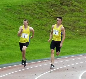 Jack Haughton and Euan Smith in the 200 Metres
