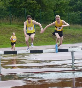 Michael Wright (3) in the Steeplechase