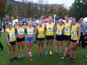 Women's team: Rowley, McCulloch, Craig, Hendry, Hay, McStay, Houston, Millar
